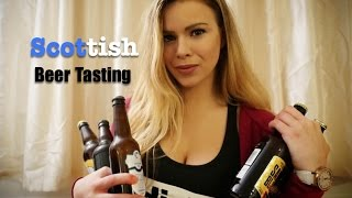 ASMR SCOTTISH BEER TASTING (Ear to Ear, Mouth Sounds, Up Close)