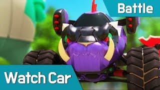 [Watch car Battle Scene5] Monster Watch car VS Bluewill, Avan, Poti, Sona