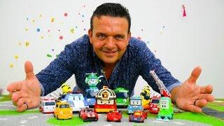 Vídeo de juguetes. Coches para Niños. Autobuses Tayo.