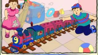 Engine-Engine Number Nine - Nursery Rhyme for Kids