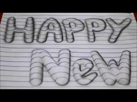 Xxx Mp4 How To Draw Happy New Year 3d Art Easy Line On Paper Optical Illusion Trick Like Writing 3gp Sex
