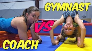 Gymnasts VS Coach - Gymnastics Flexibility Competition| Rachel Marie