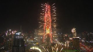 Dubai's New Year's Eve fireworks welcome in 2017
