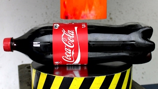 EXPERIMENT Glowing 1000 degree HYDRAULIC PRESS 100 TON vs COCA COLA