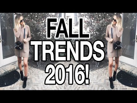 FALL TRENDS 2016: 3 FALL OUTFITS!
