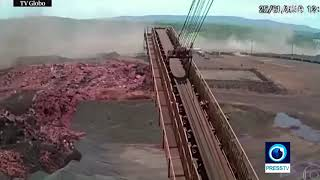 Shocking moment of deadly dam collapse in Brazil Video