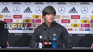 LIVE: German coach Low holds press conference ahead of Russia friendly
