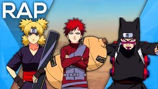 🔴 Rap dos Irmãos da areia - Gaara, Kankuro e Temari (Naruto) l Águia l Conjunto 10