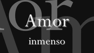 Amor inmenso - nek (letra)