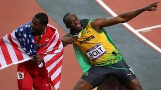 Jamaica's Usain Bolt leaves interview to respect USA national anthem!