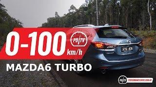 2018 Mazda6 Turbo 0-100km/h & engine sound
