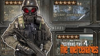 RESIDENT EVIL 4 - 100%: THE MERCENARIES - HUNK em TODOS os MAPAS!