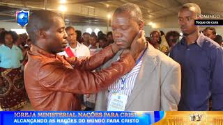 Homem curado no pescoço-Apóstolo Onório Cutane