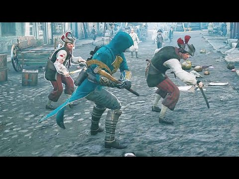 Assassin's Creed Unity Black Office Stealth Kills & War Axe Massacre