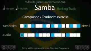 Samba exercise (80 bpm) : Surdo + Tamborim (clave 1)