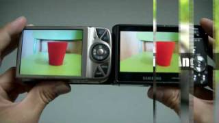 AMOLED(WB1000) vs TFT LCD(IXUS 990IS)