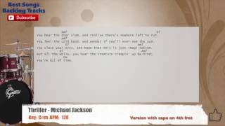 Thriller - Michael Jackson Drums Backing Track with chords and lyrics