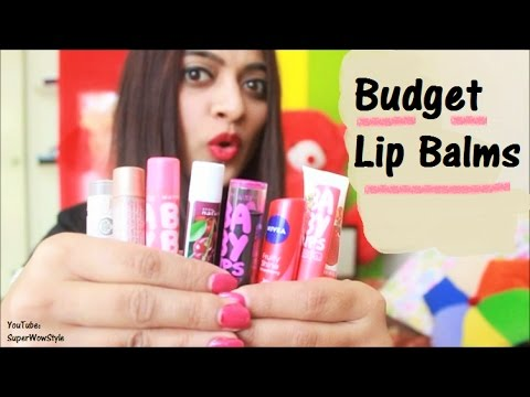 Budget Beauty #1: _ Budget Lip Balms In India  __ | SuperWowStyle