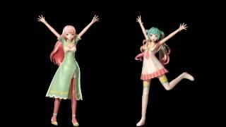 MMD Hologram Ready - Viva Happy ビバハピ - Hatsune Miku 初音ミク