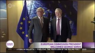 George Soros Kisses Jean Claude Juncker
