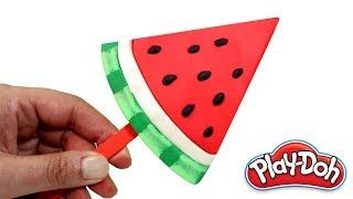 How to Make Watermelon Ice Cream Popsicle Play Doh Food & Ice Cream Easy Creative Fun for Kids