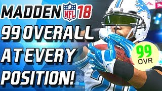 99 OVERALL AT EVERY POSTION! 99 BARRY! BEST TEAM EVER! - Madden 18 Ultimate Team