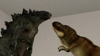 [SFM]Godzilla 2014 and T-Rex