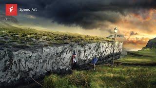 Farewell Europe (EU) - Digital Art Time-lapse