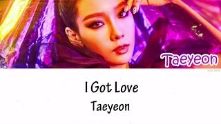 taeyeon 태연 - i got love lyrics hanromeng