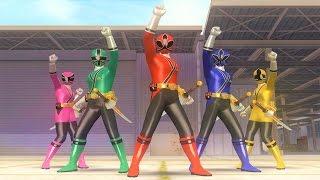 Sieu Nhan Game Play | 5 anh em siêu nhân thần kiếm đánh banị quái vật | Game super sentai battle Rc
