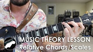 What Are Relative Major/Minor Chords and Scales? Music Theory Guitar Lesson