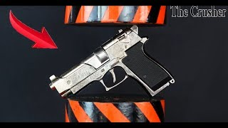 HYDRAULIC PRESS VS GUN TOY   THE CRUSHER say no to war