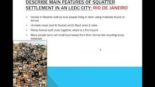 IGCSE Geography Case Studies: Settlements