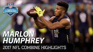 Marlon Humphrey (Alabama, DB) | 2017 NFL Combine Highlights