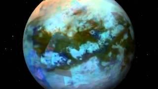 Mappa a colori di Titano, il più grande satellite di Saturno