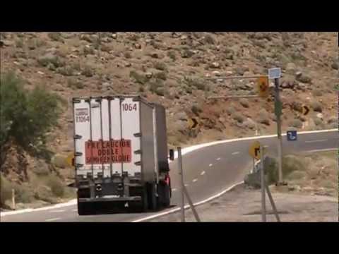 Cuesta La Rumorosa Baja California Vehiculos Pesados