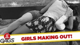 Girls Making Out On Camera Prank