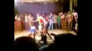Aunty showing naked boobs on stage record dance