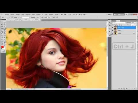 PHOTOSHOP CS5 COMO CAMBIAR EL COLOR DE CABELLO