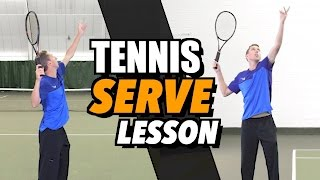 Tennis Serve Lesson For Beginners - How To Hit A Serve