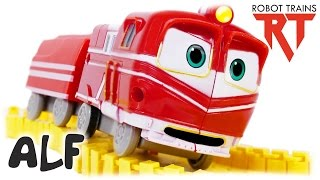 Robot Trains VIDEO FOR CHILDREN (로봇트레인) Alf Splicing Rail Toys for Kids Review