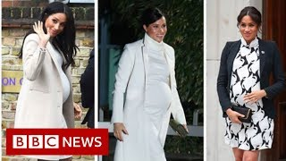 Royal baby: How Meghan kept working through pregnancy - BBC News
