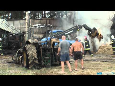 Traktorok égtek el a szarvaskendi tűzben százmilliós nagyságrendű a kár a majorban