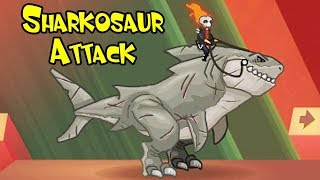 Sharkosaur Attack (5 Riders) - Y8 Game | Eftsei Gaming