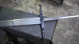Forging a pattern welded multi-fullered Witcher 3 sword, part 2.