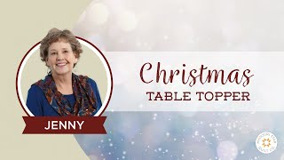 The Easiest Christmas Table Topper / Mini Tree Skirt You'll Ever Make!