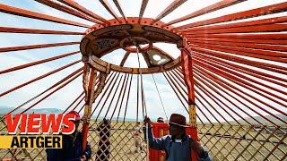 VIEWS: Assembling A Mongolian Ger | New Yurt Celebration