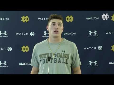 Ian Book Press Conference 2017 Blue Gold Post Game