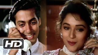 The Romantic Phone Call - Salman Khan And Madhuri Dixit Best Love Scene - Hum Aapke Hain Koun