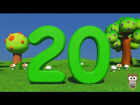 Sayılar   1 den 20 e Kadar Türkçe Sayılar   3D Animasyonlu Çocuk Şarkıları   Mini Baykuş